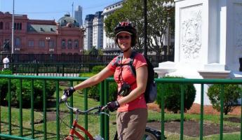 I rented a bike and rode it rhough Buenos Aires