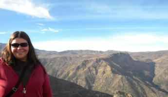 Andes Mountians view