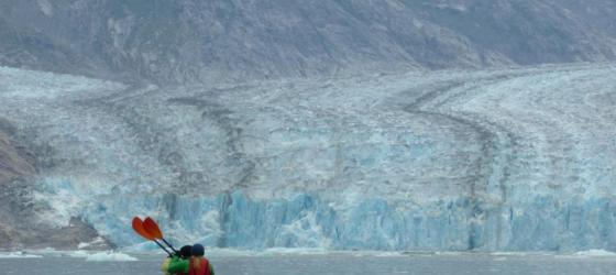 Kayaking to Dawes Glacier in Alaska