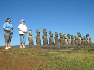 The 16th and 17th Moais on Easter Island!