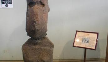 Only female moai in the Island museum