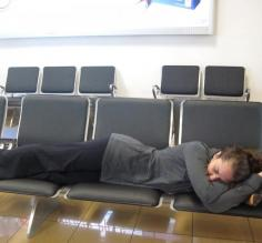 Catching some zzzzs in an airport