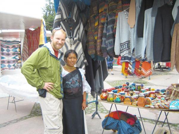 Shopping at the Otavalo Market during Ecuador vacation