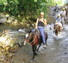 Traveler riding horse on Costa Rica Trip