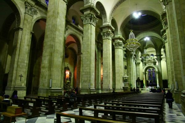 The beautiful interior of the cathedral