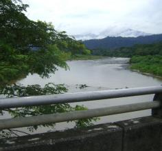 Crossing the river in Costa Rica
