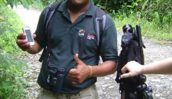 guide and wildlife expert on the Costa Rica tour