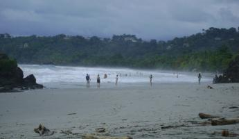 Exploring a Costa Rican beach