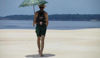 Our guide on the sandbar