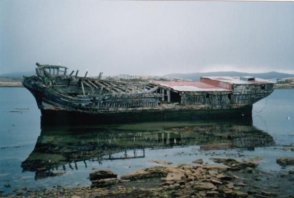 19th century ship still intact at Stanley