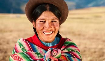 A local Peruvian woman