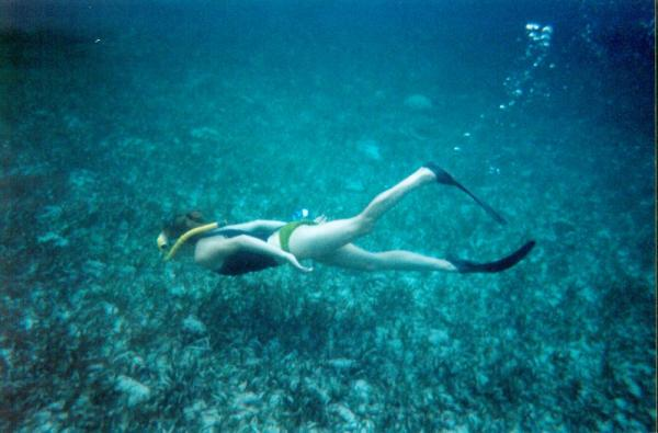 Snorkeling on a trip to Belize