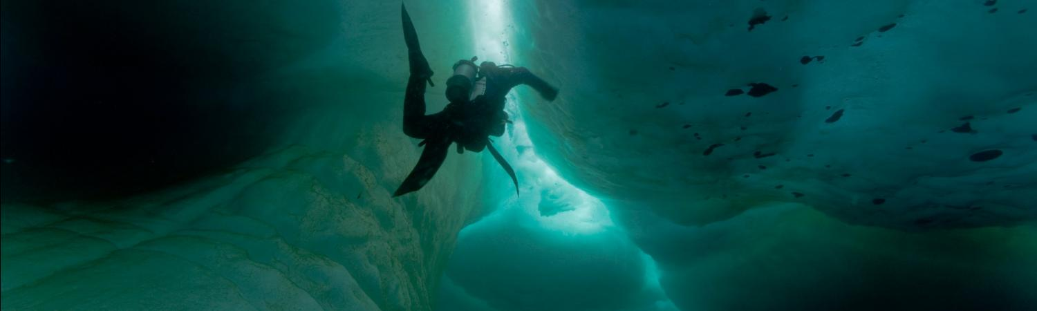 Ice diving in the Arctic