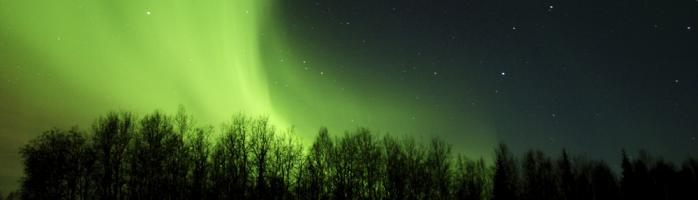 Alaska travel and aurora borealis