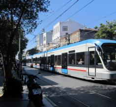 The tram in Istanbul - Very easy to use!