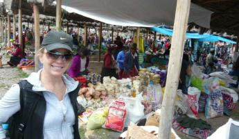 At the market in Peru