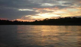 Sunset on Madre de Dios
