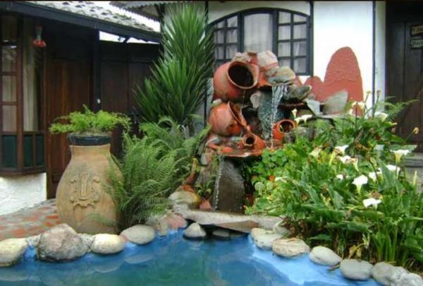 Water features add to the serene setting
