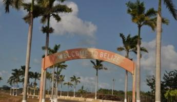 Welcome to Belize... 90 degrees + 100% humidity