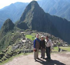 Jon, Ivy, and Ayul at Machu Picchu