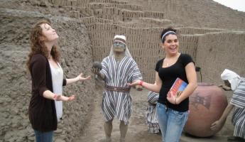 Huaca Pucllana in Lima, you can walk here from downtown.