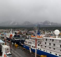 The port!  Readying ourselves for the Drake Passage