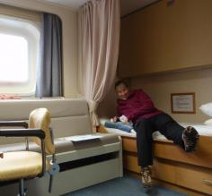 Surprisingly big cabin on the Akademik Ioffe
