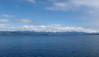 Beautiful mountains on the Beagle Channel