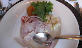 Ceviche at Astrid & Gaston's.  To die for!