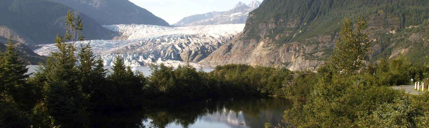 View of Mendenhall glacier on an Alaska cruise