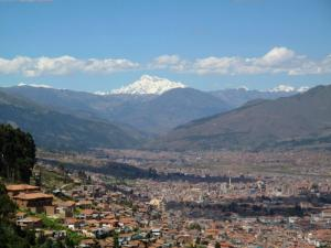 View of Cusco from the Temple of the Sun.