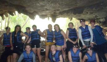Student group cave tubing trip!
