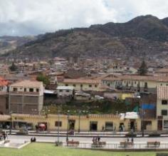 Cusco - view of the Museum below and surrounding city