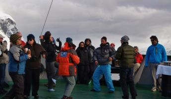 Dance party on the bow