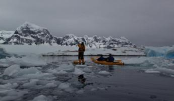 Stand up paddleboarding in Antarctica!