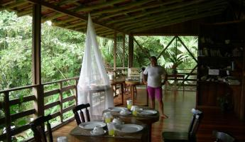 Dining room at Selva Bananito