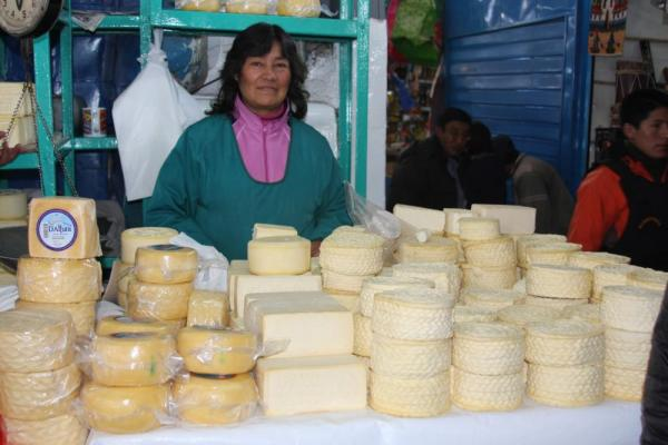 Cusco, Peru: Market - Cheese