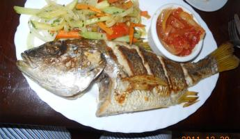 Whole Fish at El Timon, San Juan del Sur
