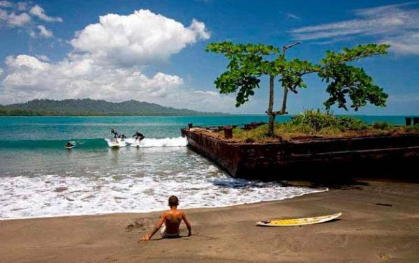 Relax on the black sand beaches of Costa Rica