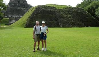 Happy to be touring the Xunantunich ruins!