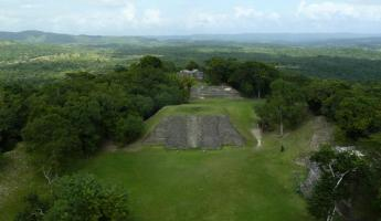 View from top of pyramid
