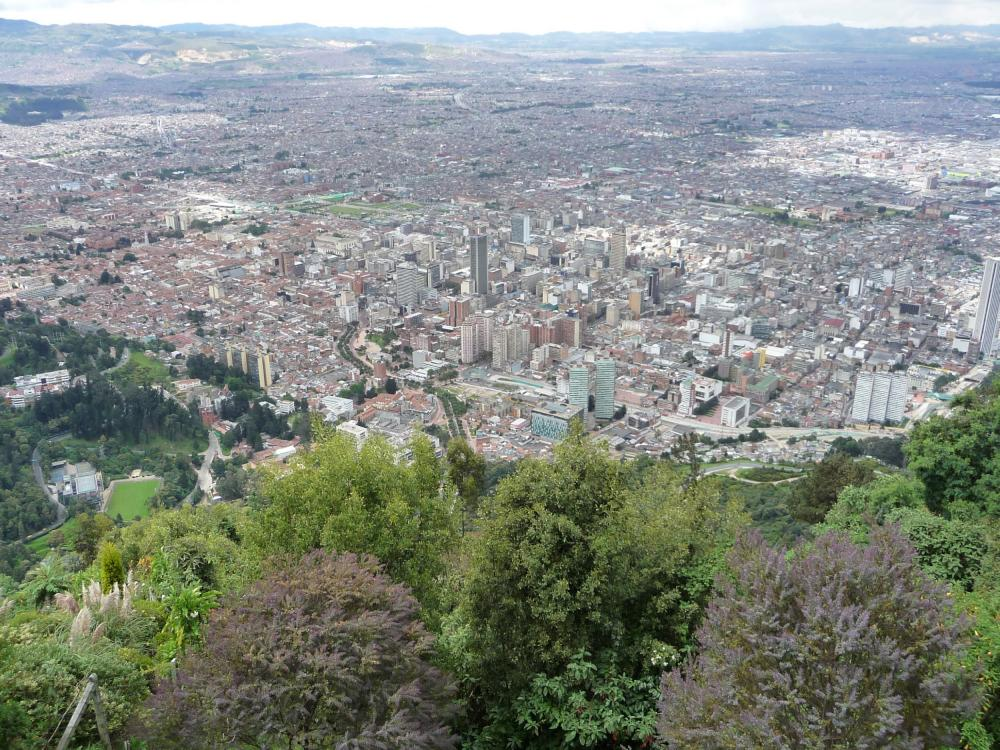 View of Bogota from Montserrate