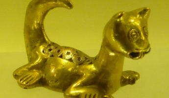 Gold Jaguar. . .symbol of power among the Colombian Indians