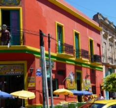 Brightly Colored Apartments in San Telmo