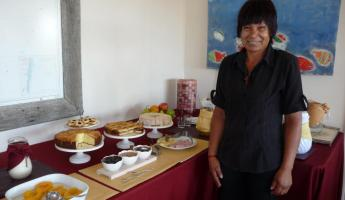 Ramona serves a delectable Breakfast Buffet at Rincon Chico