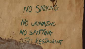 Sign on Restaurant in Kaur