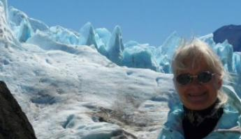 My jacket must match the glaciers!