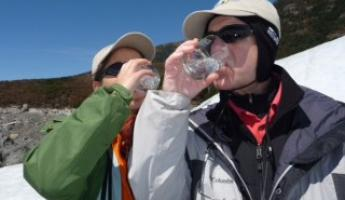 Ice cold glacier water. . .mmmmm!