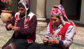 Cusco - weavers at CTTC