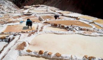 Moras - salt flats in Sacred Valley